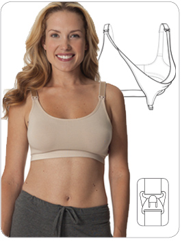 28e2c7f8335aa This essential first step Nursing Bra with cotton heat molded cups has  built-in inner sling for added support and is made from breathable