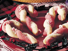 Really Easy Candy Cane Cookies