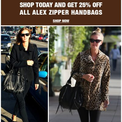 25% off Linea Pelle 'Alex Zipper Handbags' TODAY!