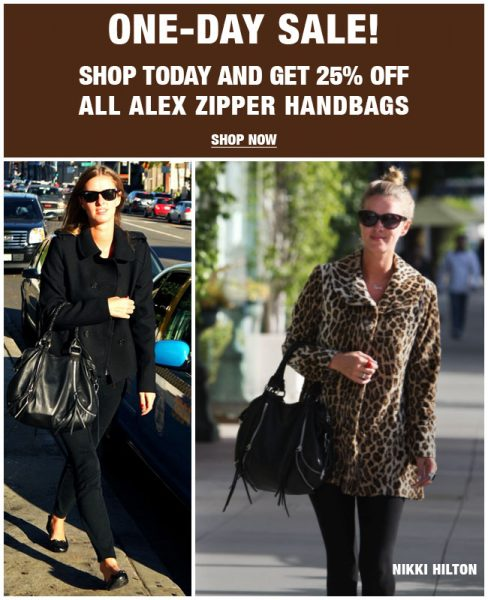 25% off Linea Pelle 'Alex Zipper Handbags' TODAY!