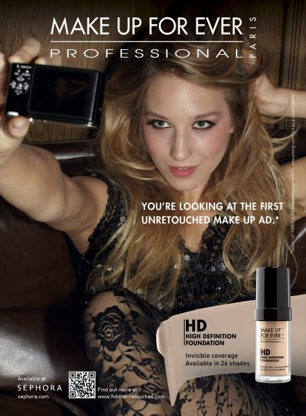 First Ever Unretouched Ad Camapaign from Make Up For Ever!