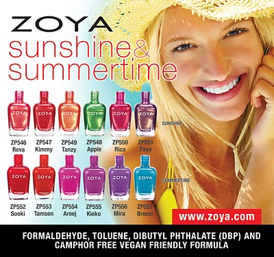 Zoya Nail Polish presents their Sunshine and Summertime Collections!