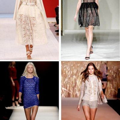 Lace Adds that Feminine Touch to Spring Wardrobes