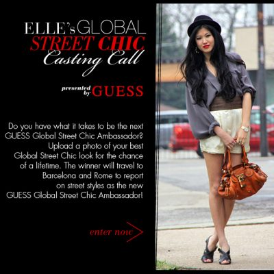 Your Chance to be GUESS Street Chic Ambassador!