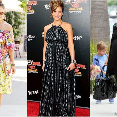 Jessica Alba's Maternity Style