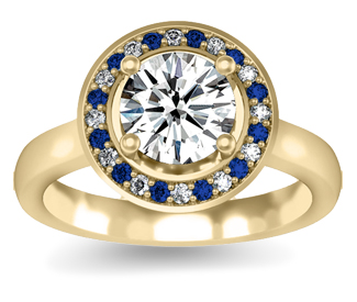 Diamond Wedding Ring With Sapphire