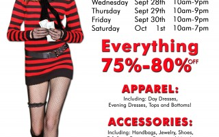 Betsey Johnson Sample Sale Starts 9/28!
