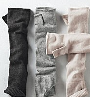 Cashmere fingerless gloves from Garnet Hill, $38.00