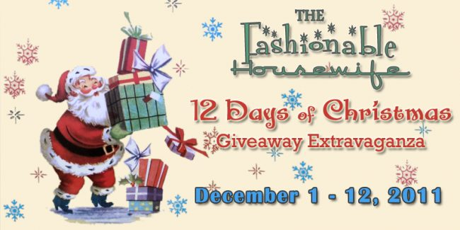 12 Days of Christmas Giveaway Extravaganza 2011