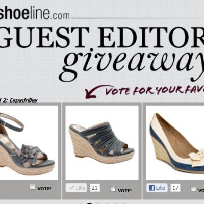 Shoeline.com Guest Editor SHOES Giveaway!