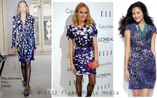 Balenciaga blue dress 1