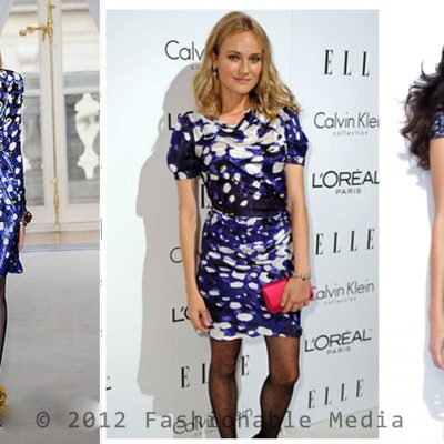 The Look For Less: Diane Kruger's Balenciaga Blue Dress