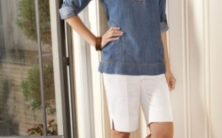 foxcroft denim tunic