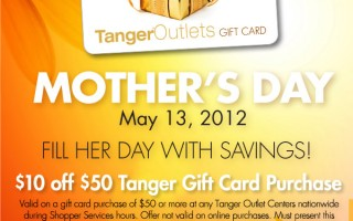Tanger Mother's Day Coupon
