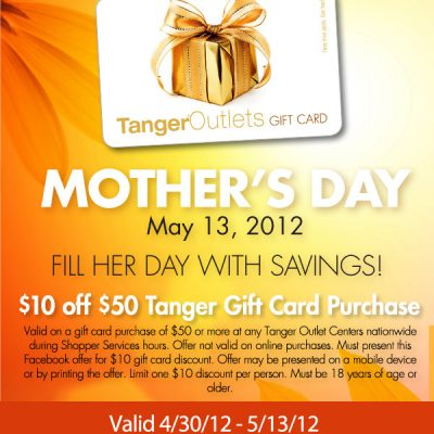 Shop Tanger Outlets For Mother's Day Gifts