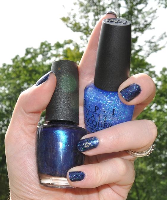 Nails: OPI Yoga-Ta Get This Blue Nail Polish