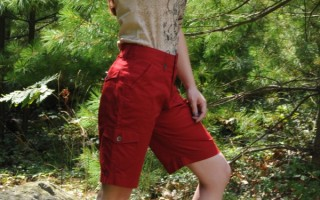 Today's Outfit: Red Bermuda Shorts