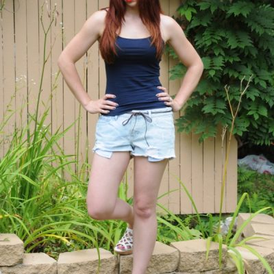 Today's Outfit: Element Worn Denim Shorts