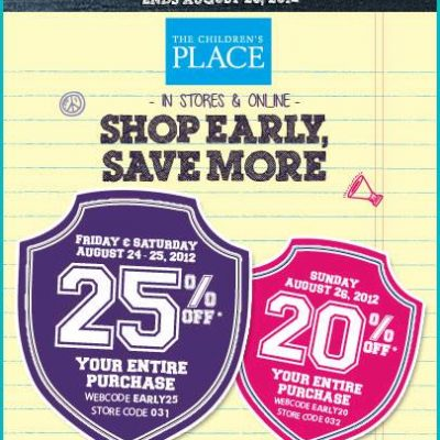 Extra 25% Off at The Children's Place