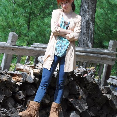 Today's Outfit: LAMO Sammi Fringe Boots