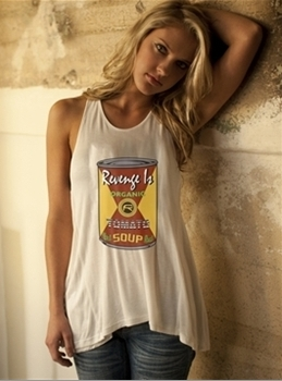 "RevengeIs Retro ""Organic Tomato Soup"" Tee"
