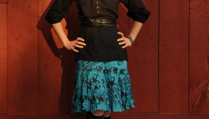 Today's Outfit: Dansko Nat with Skull Skirt