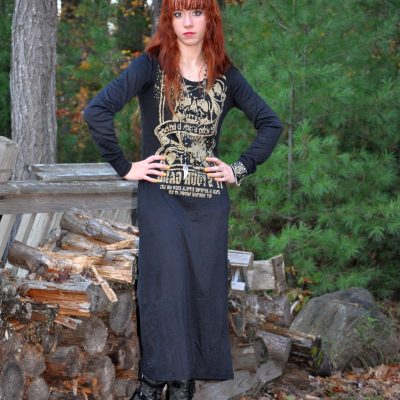 Today's Outfit: Goth Punk Skull Dress with Boots