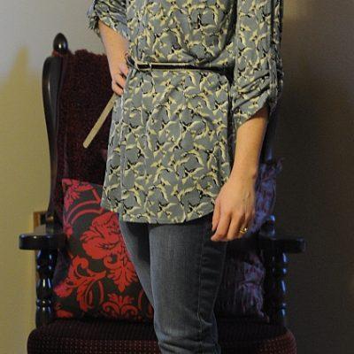 Today's Outfit: Sparrow Bird Print Top
