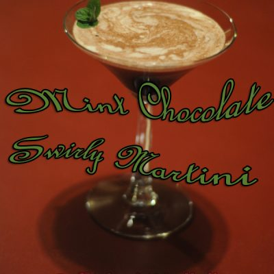 Get Cozy With a Mint Chocolate Swirly Martini