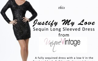 Day 4 – Unique Vintage Black Sequin Dress ($88)