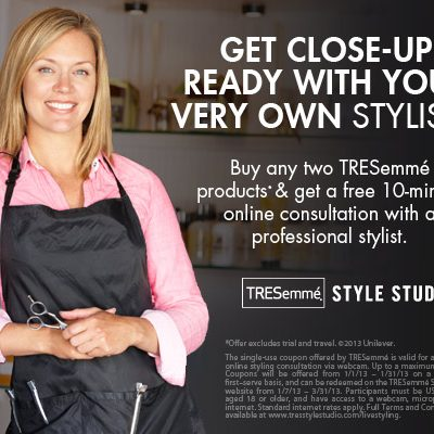 Want a FREE TRESemme Live Styling Session?