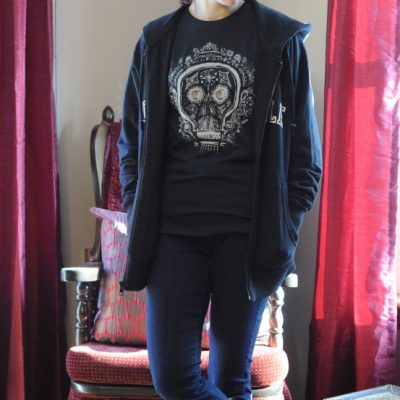 Outfit Ideas: Chipolte Skull Tee & Sweatshirt