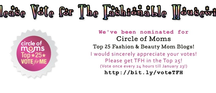 Please Vote for The Fashionable Housewife!