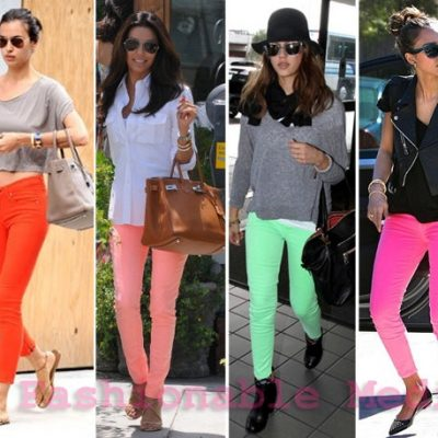 What To Wear With Neon Jeans