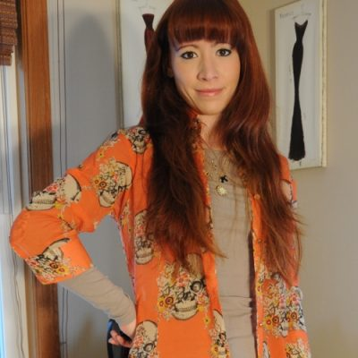 Outfit Ideas: Liverpool Velvet Jeans & Skulls