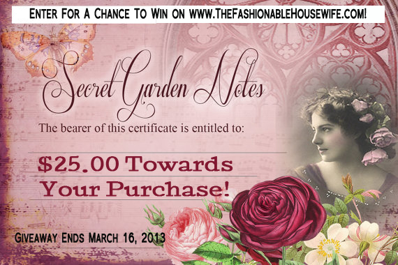 Secret Garden Notes Solid Perfume Lockets Giveaway