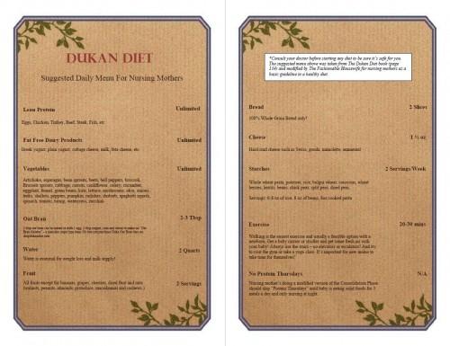 dukan diet for nursing mothers