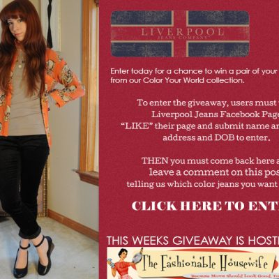 Enter To Win Colored Denim from Liverpool Jeans!