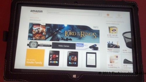 amazon app on windows 8 tablet