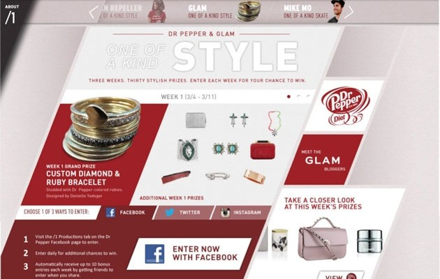 Diet Dr Pepper One of a Kind Style Sweepstakes