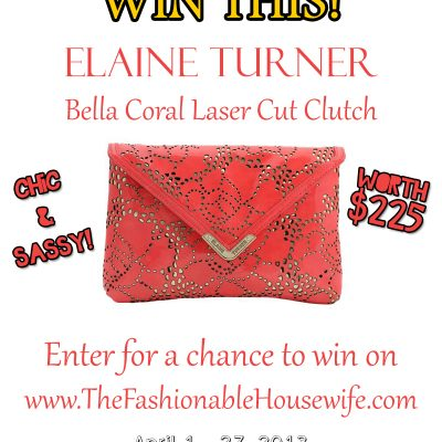 Win This Elaine Turner Coral Clutch worth $225!
