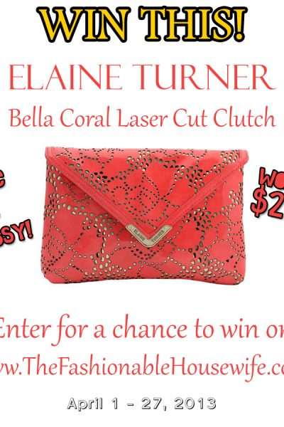 Enter to win this Elaine Turner Coral Clutch!
