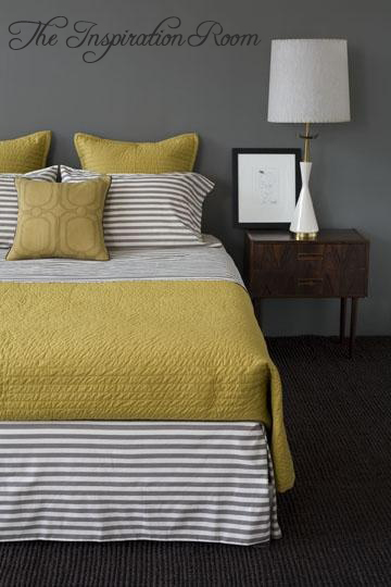 gray yellow inspiration bedroom