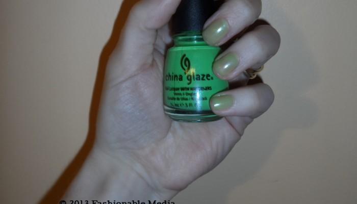 Nail Polish: China Glaze Entourage Neon Green