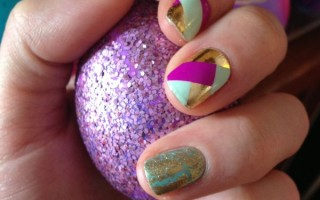 Easter Nails: Jamberry Basket Weave Nail Shields