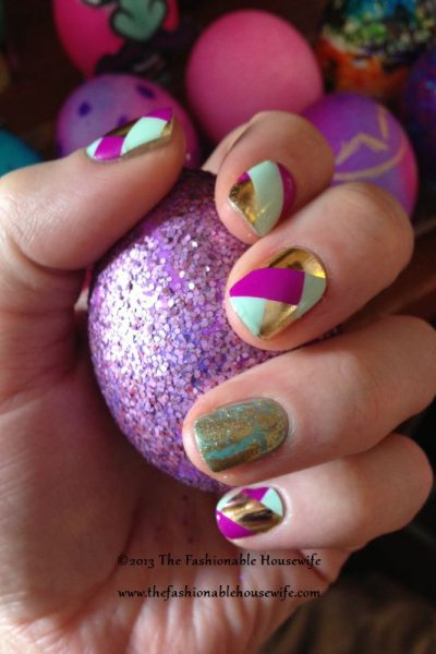 Jamberry Easter Basket Weave Nail Art