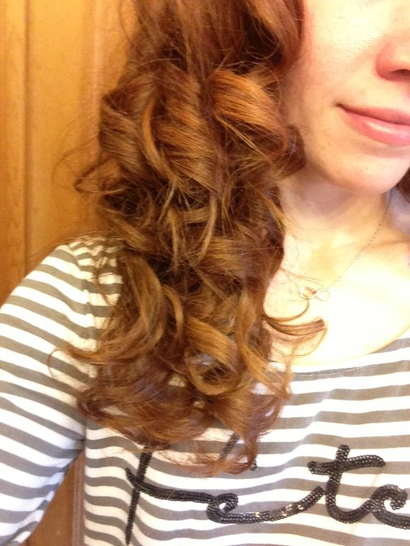 pretty curly red hair