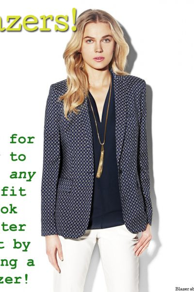 Tips on how to wear blazers!