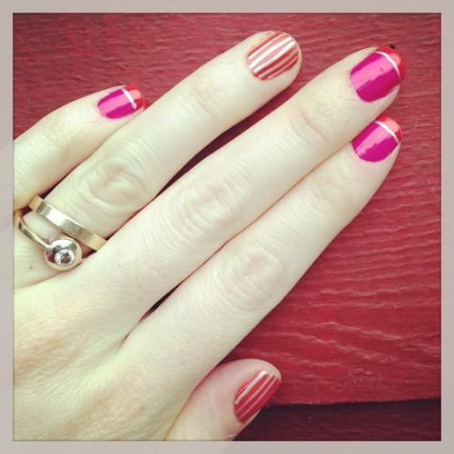 metallic sharpie marker manicure nails