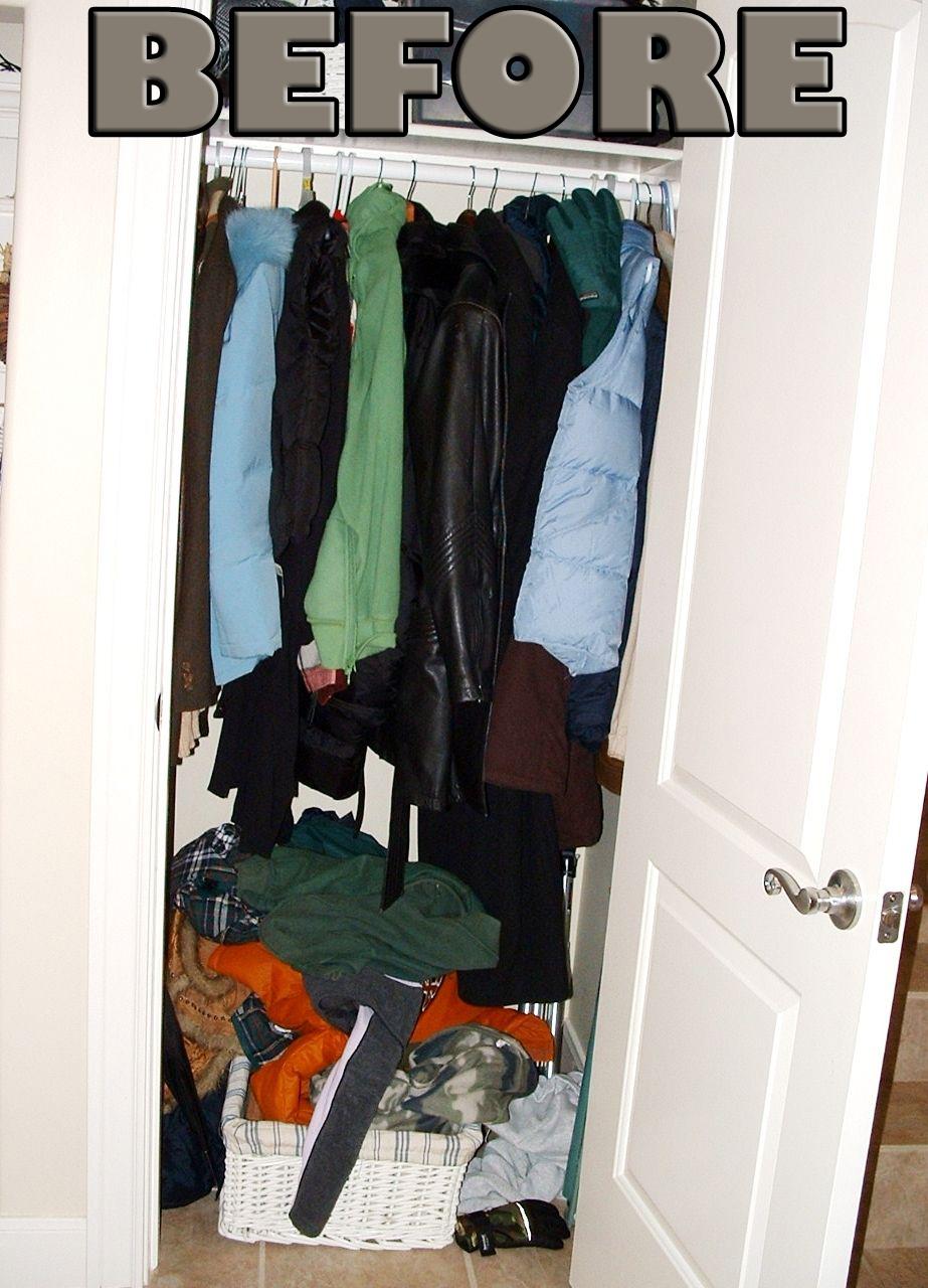 Genial Coat Closet Before ...